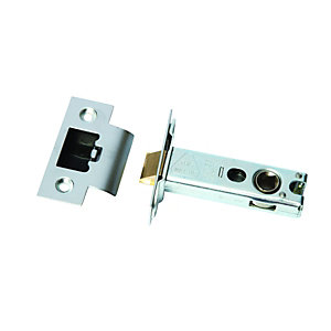Wickes Heavy Duty Mortice Latch Satin Stainless Steel 76mm