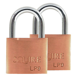 Squire LP9T Leopard Padlock Brass 40mm 2 Pack
