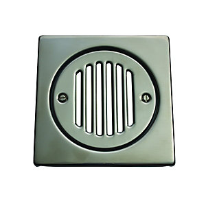 McAlpine FGTOP6SS Square Tile Grate Stainless Steel