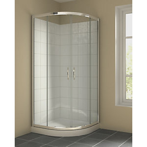 Quadrant Enclosure Pack Includes 900mm Enclosure, Shower Tray and Waste 12mm x 2.6m