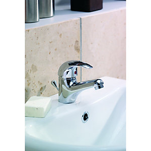 Wickes Rhine Bath and Basin Tap Pack Chrome