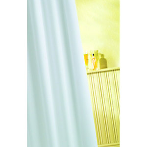 Wickes Textile Shower Curtain White