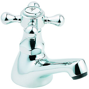 Wickes Classic Basin Taps Chrome