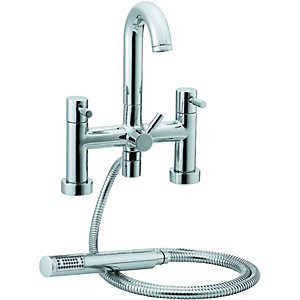 Wickes Rayo Bath Shower Mixer Chrome