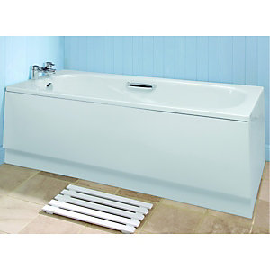 Wickes Aswan Space Saver Bath Front Panel White 1500mm