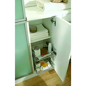 Pull Out 2 Tier Chrome Storage  Solution