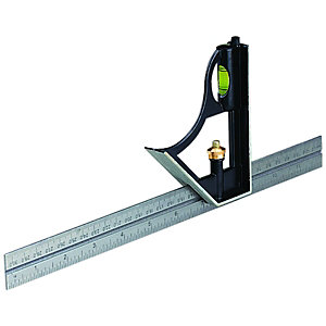 Wickes Steel Combination Square 12in/300mm
