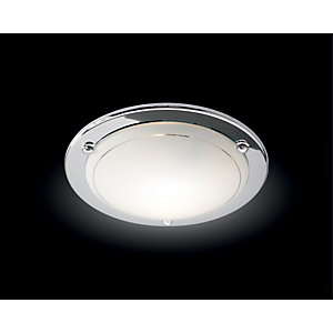 Wickes Geneva Flush Ceiling Light Chrome