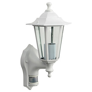 Wickes 60W PIR Wall Lantern White