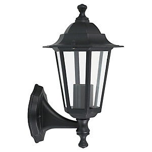 Wickes 60W 6 Sided Lantern Black
