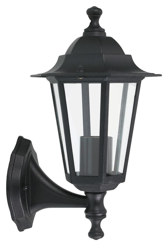 Outside Wall Lights Wickes : Wickes 60W 6 Sided Lantern Black Wickes.co.uk