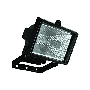 Wickes 120W Halogen Floodlight Black