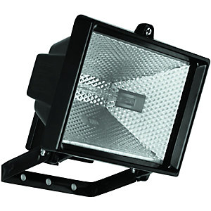 Wickes 400W Halogen Floodlight Black