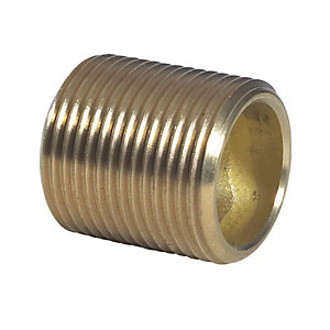 Centre Compression Brass Barrel Nipple 9mm