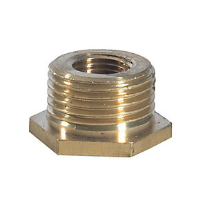 Brass Hexagon Bush 3/8in x 1/8in