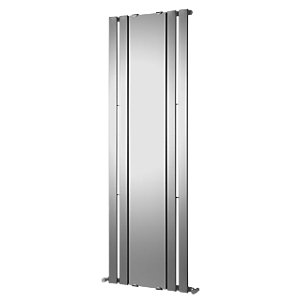 Wickes Zone Flat Panel Mirror Vertical Radiator Chrome 1800x600mm
