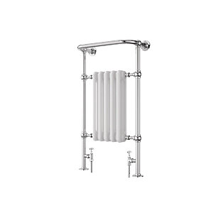 Etiquette Traditional Panel Chrome/White 960x510mm Radiator