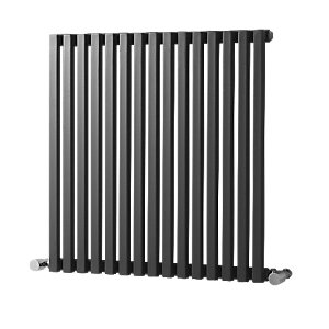 Grace Column Radiator Gunmetal 600x590mm