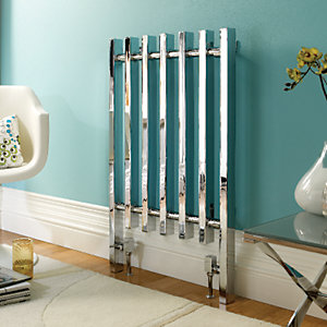 Towelrads Dynasty Column Radiator Chrome Rectangle Bar Style 920 x 570mm