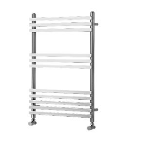 Wickes Invent Square Tube Vertical Chrome 1186x500mm Radiator