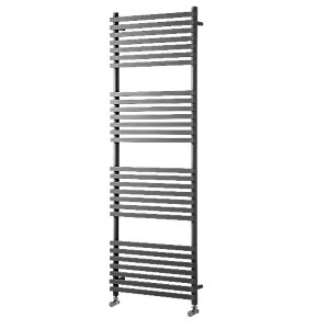 Wickes Invent Square Tube Vertical Anthracite 1186x500mm Radiator
