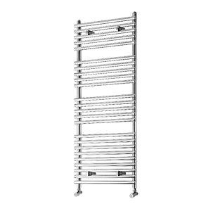 Liquid Round Vertical Chrome 1200x500mm Radiator