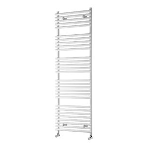 Towelrads Liquid Round Vertical White 800 x 500mm Radiator