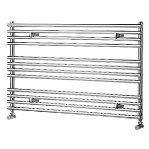 Liquid Round Horizontal Chrome 600x1000mm Radiator