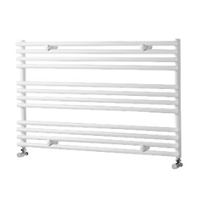 Liquid Round Horizontal White 600x1000mm Radiator
