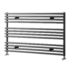 Liquid Round Horizontal Anthracite 600x1000mm Radiator