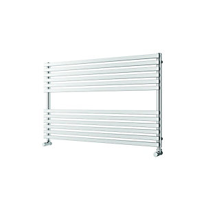 Wickes Invent Square Tube Horizontal Chrome 600x1000mm Radiator