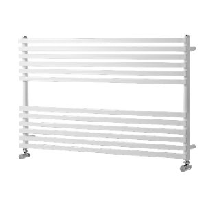 Towelrads Wickes Invent Square Tube Horizontal White 600 x 1000mm Radiator