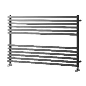 Wickes Invent Square Tube Horizontal Anthracite 600x1000mm Radiator