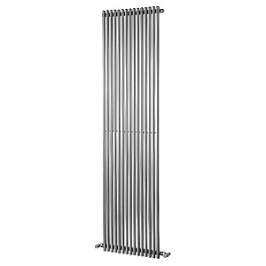 Wickes Stratus Vertical Radiator Round Chrome 1800x300mm