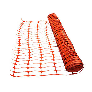 4Trade Orange Barrier Fencing 50m