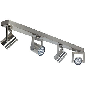 Wickes Kronos Spotlights Brushed Chrome 4 Bar