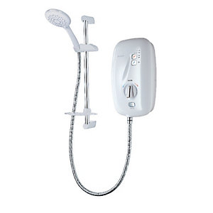 Triton Sensation Thermostatic Electric Shower White 9.5kW