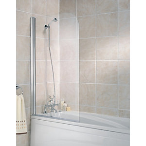 Wickes Half Bath Screen Silver Effect Frame 1400mm