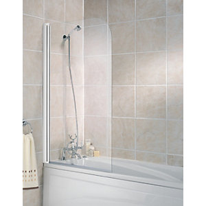 Wickes Half Bath Screen White Frame 1400mm