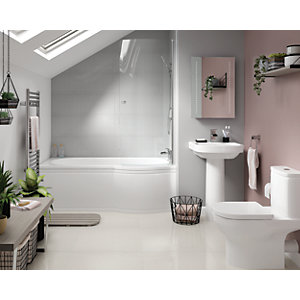 Wickes Phoenix with Misa Right Hand Shower Bath