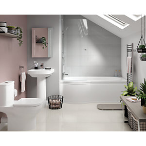 Wickes Phoenix with Misa Left Hand Shower Bath