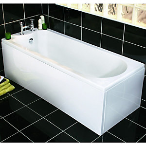Wickes Naples Straight Bath White 1675mm