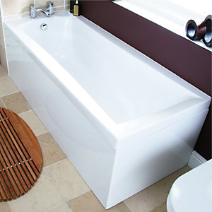 Wickes Almada Bath End Panel White 700mm