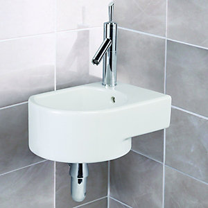 Wickes Wall Mounted Corner Basin 400mm