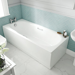Wickes Avaris Steel Bath White 1600x750mm