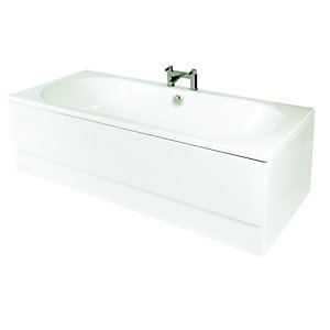 Wickes Luxury Reinforced Bath Front Panel White 1800mm