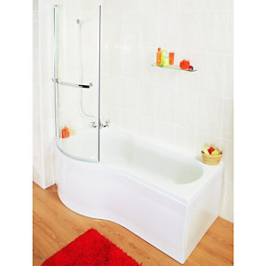 Wickes Misa End Shower Bath Panel White 900mm