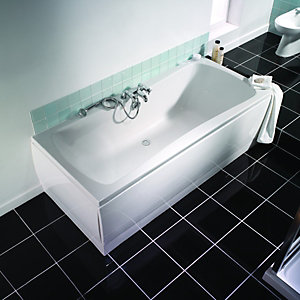Wickes Aruba Bath End Panel White 805mm
