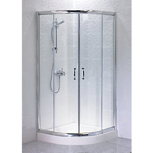 Wickes Quadrant Enclosure Silver Effect Frame 900mm