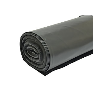 Visqueen Polythene Damp Proof Membrane PIFA Black 4m x 25m 300mu